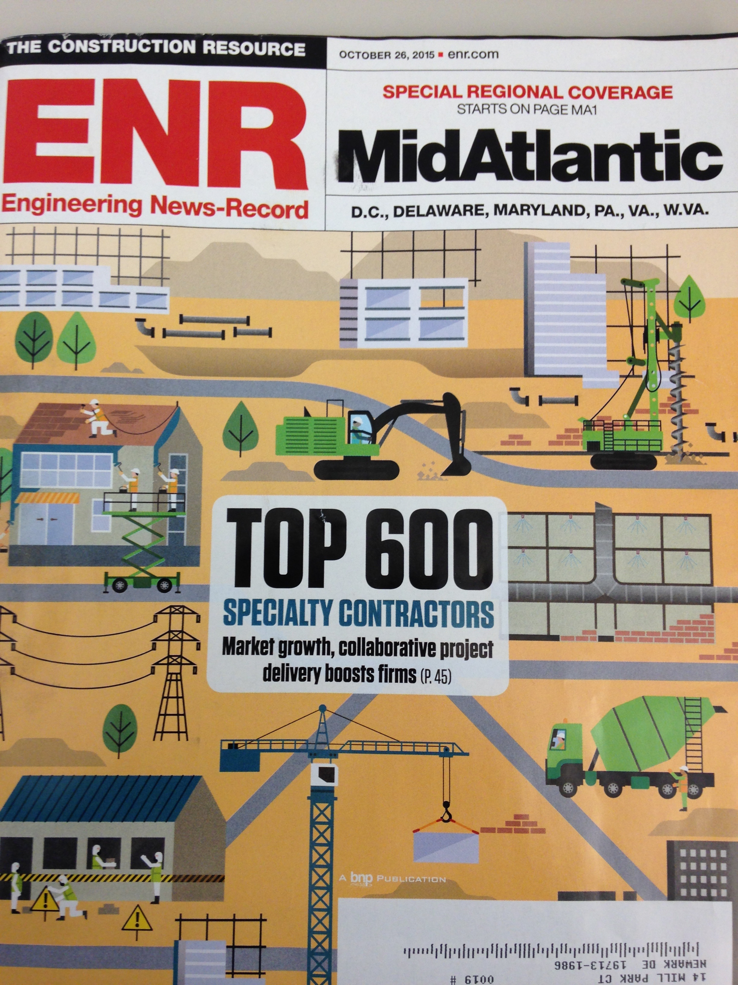 Nickle jumps 31 places on ENR Magazine's Top 600 Specialty Contractor list