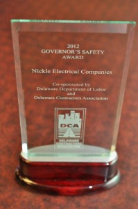 Gov Safety Award 2012