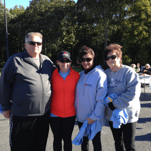 Pictured left-right at the Easter Seals Walk: Chief Estimator Dave Spittle, Business Development Laura Dignan, Project Management Assistant Lisa Houston, and Shirley Valeria