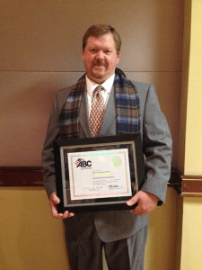 Safety Director Mike Anderson accepted the ABC Delaware STEP Safety Award