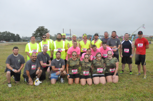 Six Nickle teams raced in the Delaware Mud Run