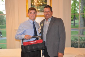Co-Op Greg Yazidjian of St. George's Technical High School accepts his ABC Delaware Student Award from Nickle President/CEO Steve Dignan.