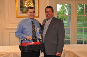Co-Op Ryan Cooke of Hodgson Vo-Tech High School accepts his ABC Delaware Student Award from Nickle President/CEO Steve Dignan.