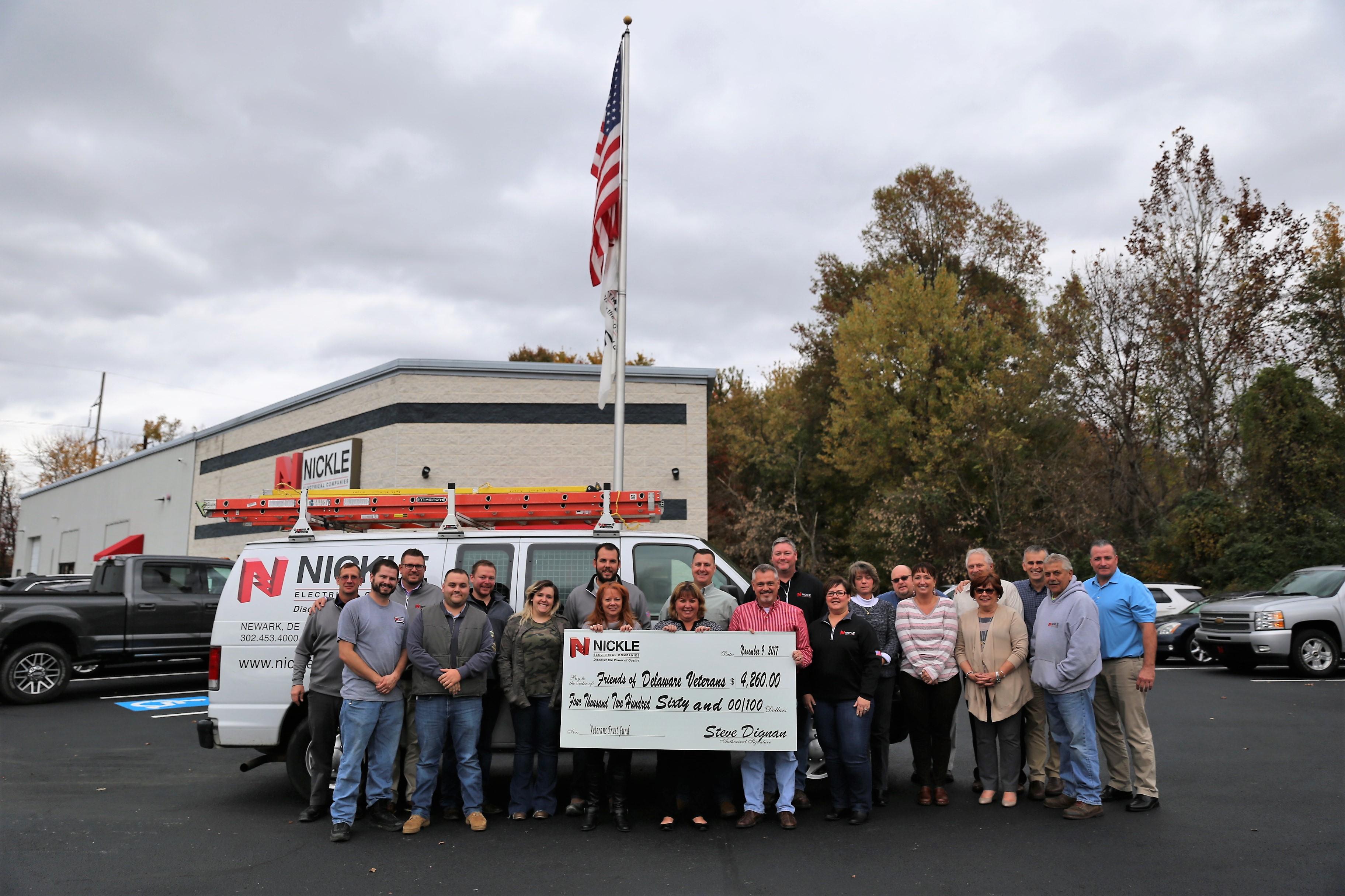 Nickle donates $4,260 to Delaware Veterans Trust Fund